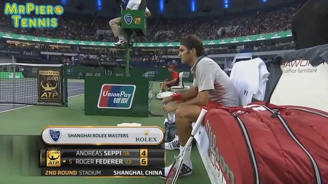 Roger Federer vs Andreas Seppi ~ Full Highlights ~ Shanghai Rolex Masters 2013