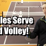 Singles Serve and Volley Strategy – Tennis Lesson – Tactics for Serve and Volley