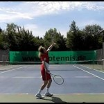 tennis tips – slice serve – slow motion