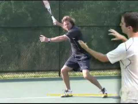Tennis Lesson: Forehand Step 3 – Swing to Contact