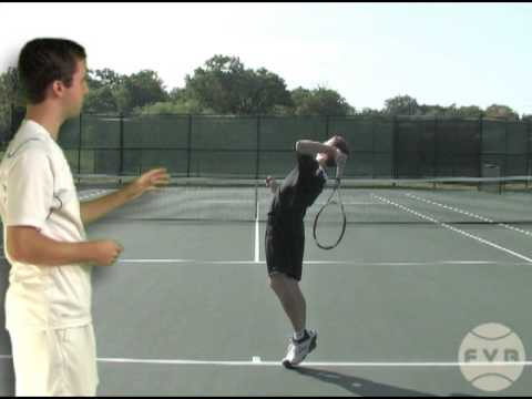 Tennis Lesson: Serve Step 5 – Racket Drop