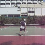 Tennis Lesson:  Hitting Topspin on a loooow SLICE