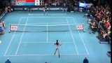 andy murray vs djokovic epic funny shot World Tennis Day new york 2014