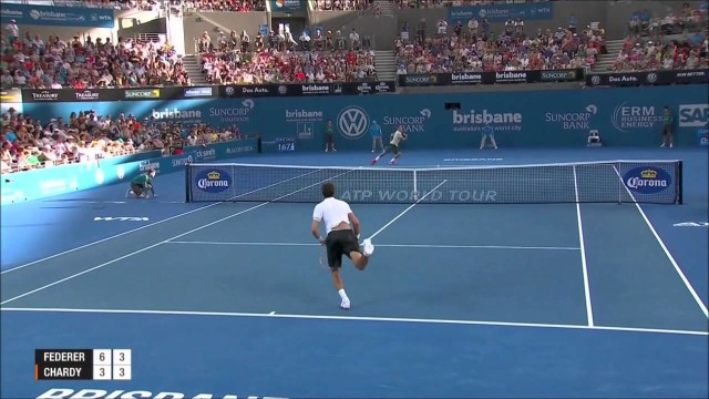 Roger Federer Vs Jeremy Chardy Brisbane 2014 HIGHLIGHTS SF HD