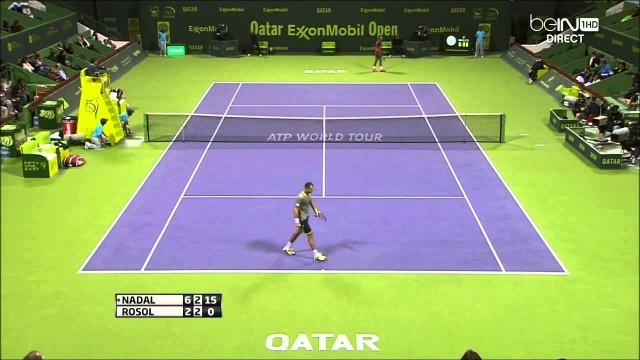 Rafael Nadal Vs Lukas Rosol Doha 2014 HIGHLIGHTS HD