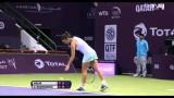 Agnieszka Radwanska Vs Simona Halep WTA Doha 2014 SF -HIGHLIGHTS