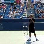 Roger Federer Second Serve in Slow Motion 210 fps HQ mp4