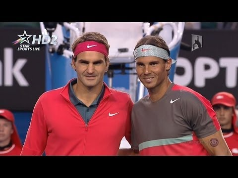 {HD} Rafael Nadal vs Roger Federer Full Highlights SF Australian Open 2014