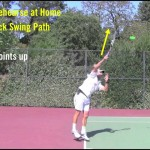 Tennis Topspin Serve Swing Path – Yours Can Look Like This