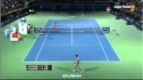 Roger Federer vs Novak Djokovic ATP 500 dubai 2014 SF HIGHLIGHTS