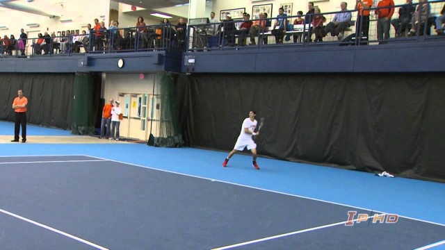 #22 Illinois Men's Tennis Highlights vs #10 Texas 2/9/14