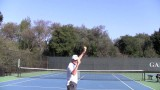 Tennis Topspin Serve Throwing Drill