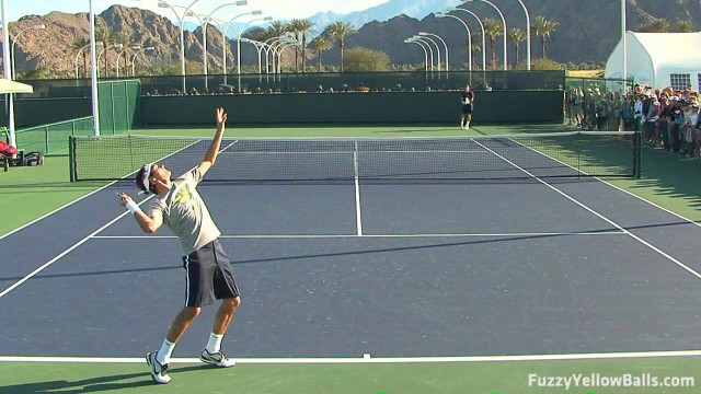 Roger Federer Serves from Back Perpsective in HD