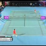 Garbiñe Muguruza v Kirsten Flipkens Hobart International Tennis 2014 – Match Highlights