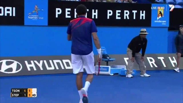 Jo-Wilfried Tsonga vs Radek Stepanek Hopman Cup 2014 – Highlights