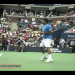 Professionelles Video Lessons Tennis Technique Serve TopSpin Vorhand