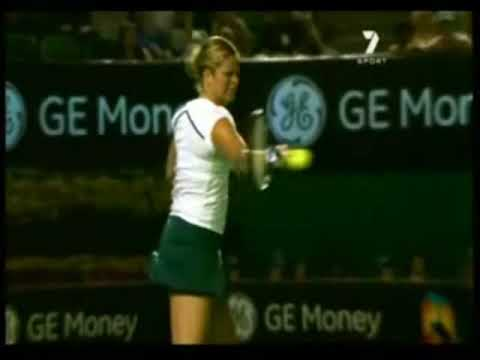 Tennis Video Lesson 14: Kim Clijster Slow Motion Topspin Forehand.