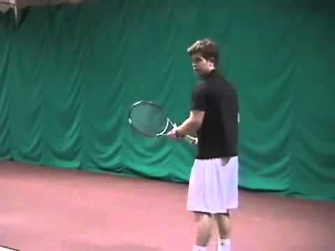 Tennis Lessons How to Hit a Tennis Topspin Forehand
