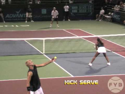 Comparing Tennis Serves – Flat Serve vs. Kick Serve