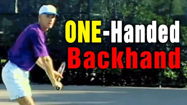 Tennis Backhand – Modern One-Handed Backhand Lesson