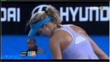 Agnieszka Radwanska vs  Eugenie Bouchard Hopman Cup 2014- highlights