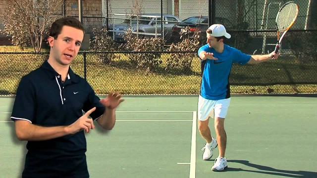 Tennis Lessons   Tennis Lessons   Forehand Swing to Contact   2013