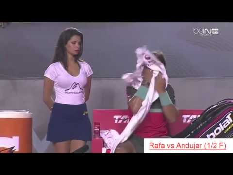 Beautiful HOT GIRL of Rafael NADAL – funny moments tennis Rio Open 2014