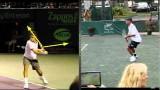Video Tennis Technique Federer Djokovich Nadal Serve Forehand Backhand Return Top Spin Slice (4).flv