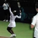 Tennis Serve Racket Drop