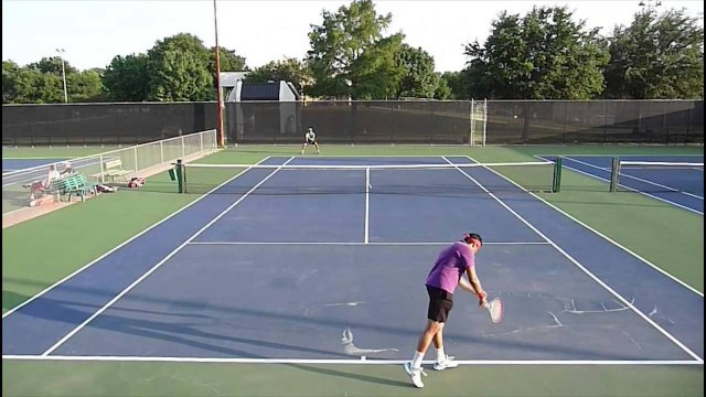 USTA 3.5 Mens Singles tennis practice match highlights 05-19-2014