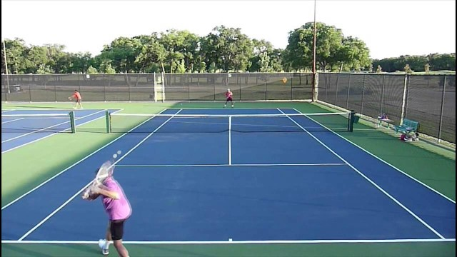 USTA 3.5 Mens Singles tennis practice match highlights 05-28-2014