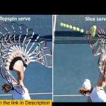 Tennis serve Toss Flat, Slice and Top Spin Serves –  Tennis Kick serve techniques