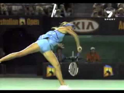Tennis Serve Sharapova – Basic Serve Technique_topspin lesson slice flat lesson first second swing