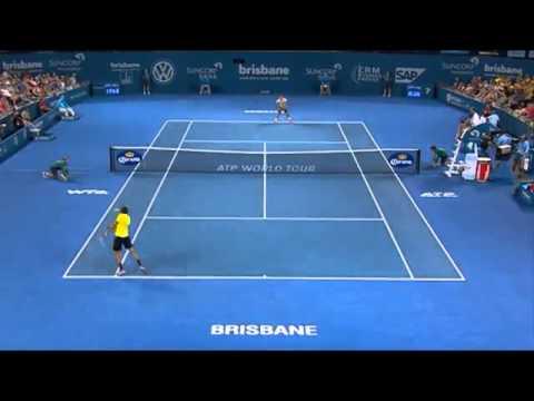 2014 Tennis Tournament Federer v Matosevic – Highlights Men's Singles Quarter Finals: Bris