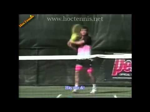 Học Tennis   Trái tay Agassi