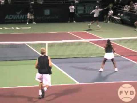 Comparing Tennis Serves   Flat Serve vs  Kick Serve