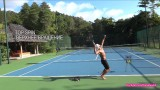 Tennis Top Spin Serve Practice (Тренировка теннисной подачи с верхним вращением)