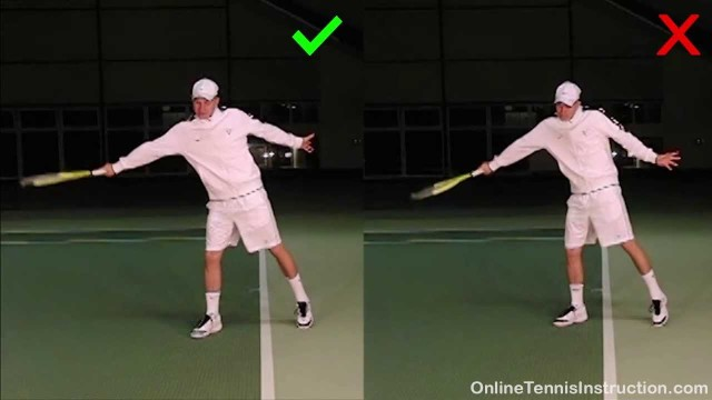Slice Backhand Tip: Keep The Racket Face Relatively Flat!