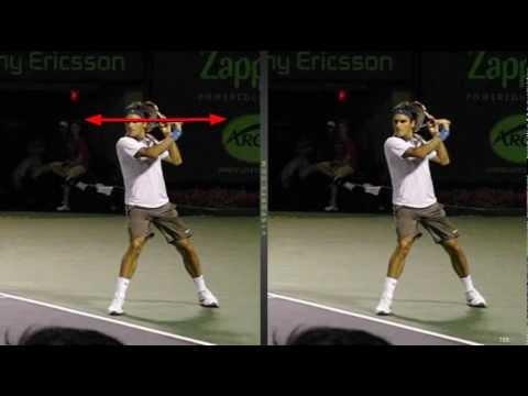 Video Tennis Technique Federer Djokovich Nadal Serve Forehand Backhand Return Top Spin Slice (5).flv