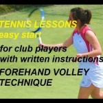 tennis lessons easy start: forehand volley technique