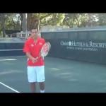 Back Hand Slice Tennis Tip at Omni Amelia Island Plantation