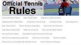 Tennis Line Rules