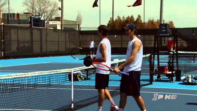 #10 llinois Men's Tennis vs Wisconsin Highlights  4/20/14