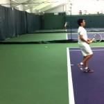 Focusing on Upward Extension in Tennis Serve