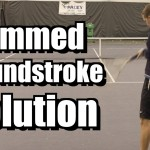 Jammed Groundstroke Solution – Forehand and Backhand Tennis Lesson – Instruction – Tips