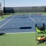 SLOW MOTION –  Tennis Slice Backhand Technique