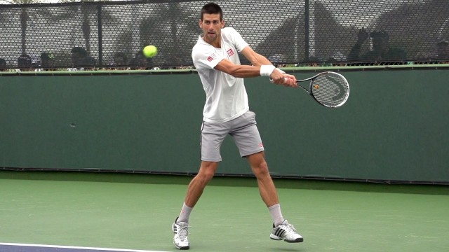 Novak Djokovic Forehand and Backhand Return of Serve in Super Slow Motion – Indian Wells 2013