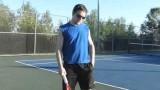 Tennis Lesson 1. Forehand, serve, still-head.