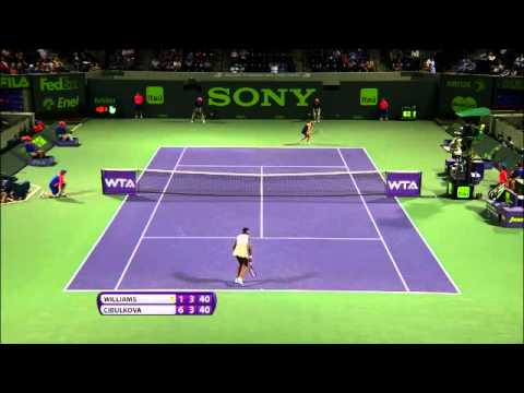 Sony Open Tennis V.Williams vs Cibulkova Highlights 3-24