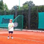 Alex,8, after Mili's Split method advanced Backhand clinic
